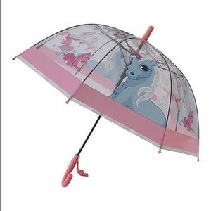 🦄Foxfire Clear Pink Trim Unicorn Whistle Umbrella